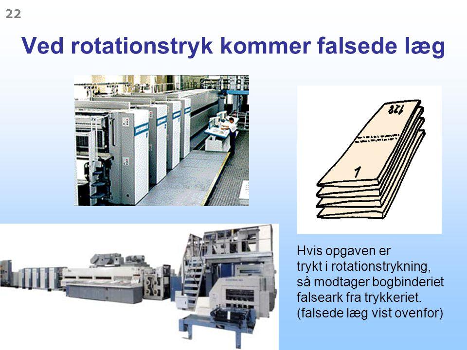 Ved rotationstryk kommer falsede læg