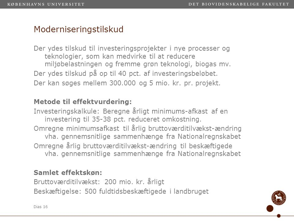 Moderniseringstilskud