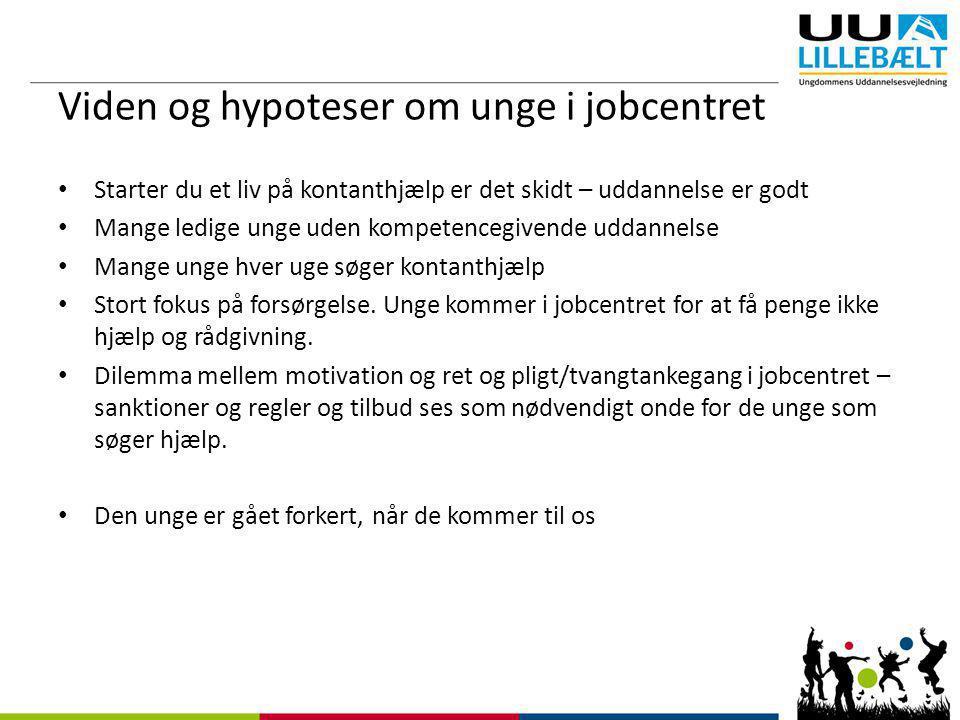 Viden og hypoteser om unge i jobcentret