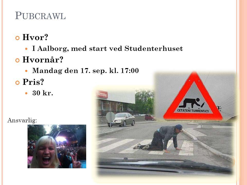 Pubcrawl Hvor Hvornår Pris I Aalborg, med start ved Studenterhuset