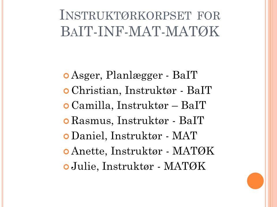 Instruktørkorpset for BaIT-INF-MAT-MATØK