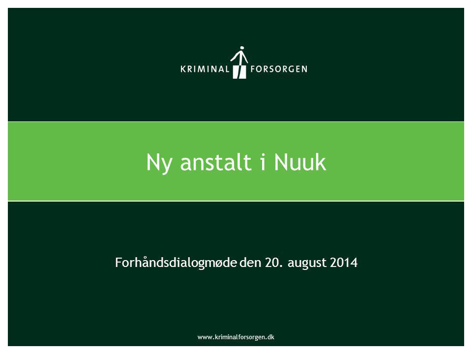 Forhåndsdialogmøde den 20. august 2014
