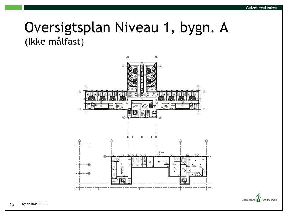 Oversigtsplan Niveau 1, bygn. A (Ikke målfast)