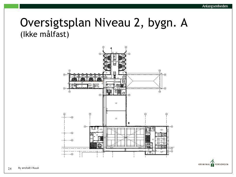 Oversigtsplan Niveau 2, bygn. A (Ikke målfast)