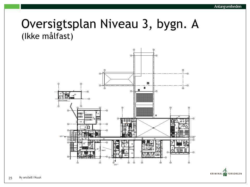 Oversigtsplan Niveau 3, bygn. A (Ikke målfast)