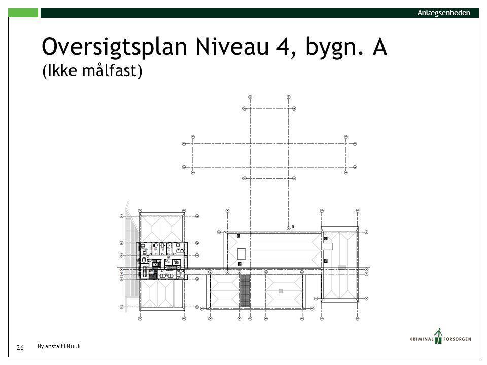 Oversigtsplan Niveau 4, bygn. A (Ikke målfast)
