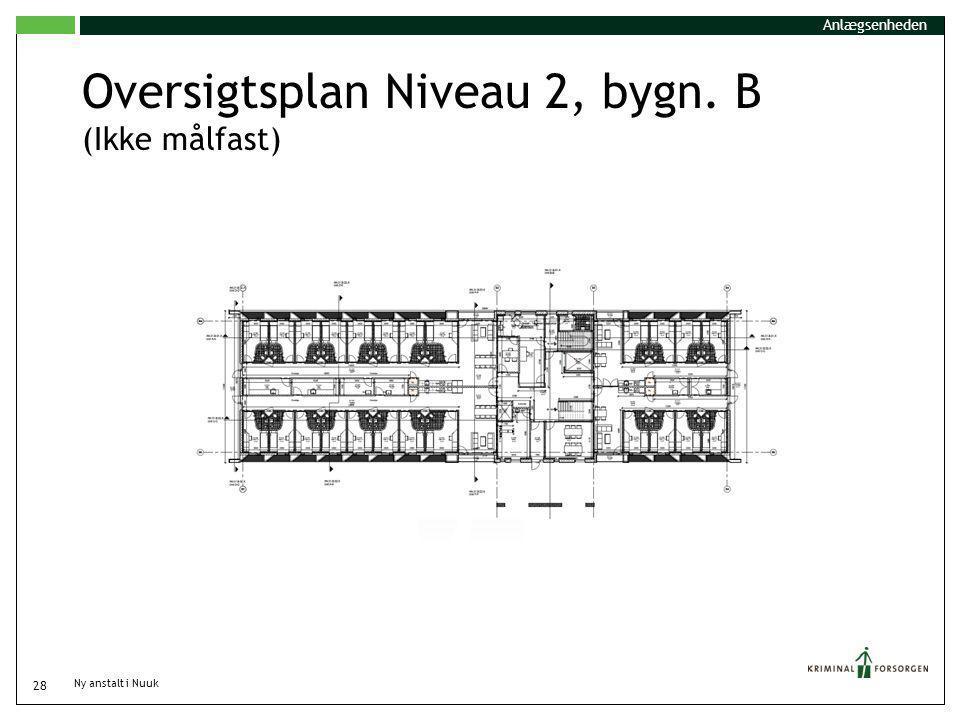 Oversigtsplan Niveau 2, bygn. B (Ikke målfast)