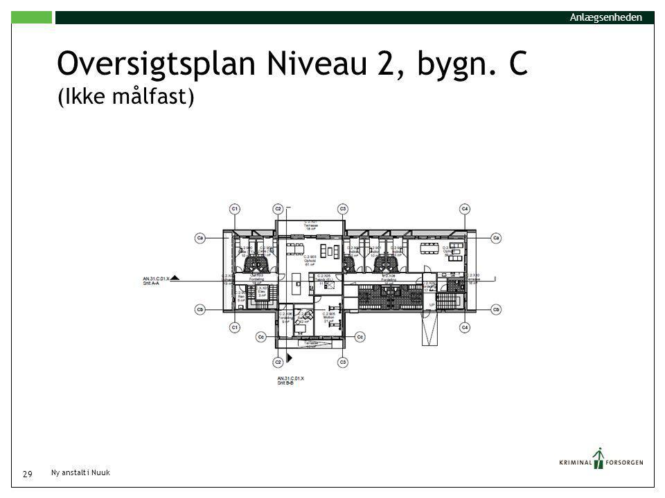 Oversigtsplan Niveau 2, bygn. C (Ikke målfast)