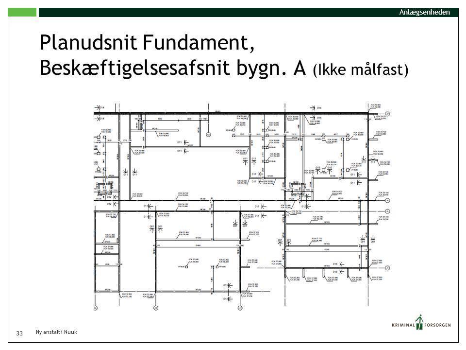 Planudsnit Fundament, Beskæftigelsesafsnit bygn. A (Ikke målfast)