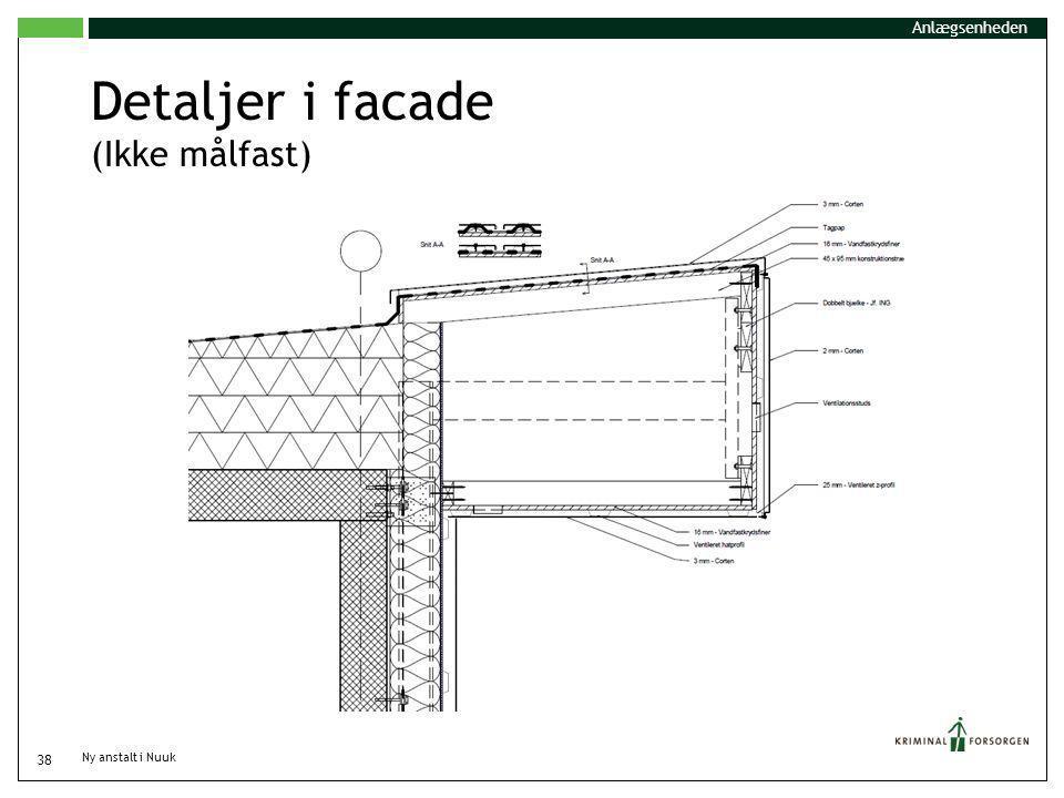 Detaljer i facade (Ikke målfast)