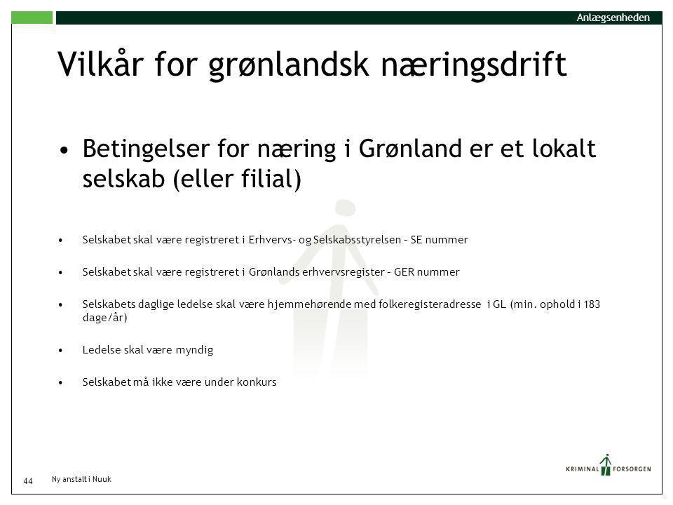 Vilkår for grønlandsk næringsdrift