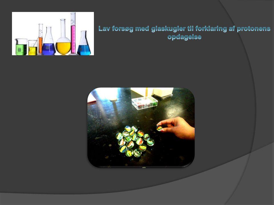 Lav forsøg med glaskugler til forklaring af protonens