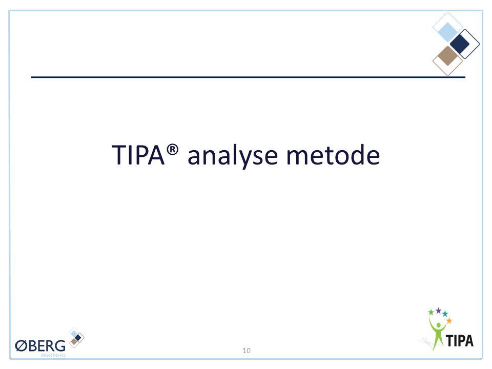 TIPA® analyse metode 10