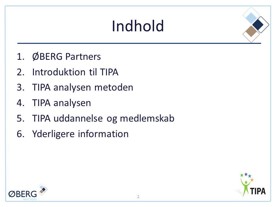 Indhold ØBERG Partners Introduktion til TIPA TIPA analysen metoden
