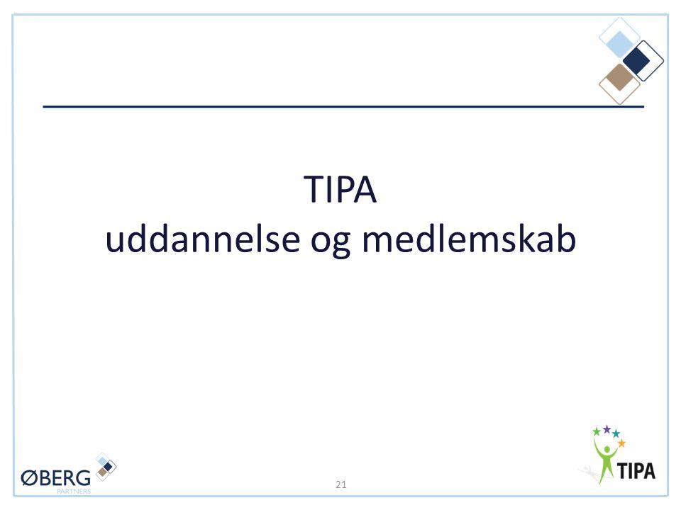 TIPA uddannelse og medlemskab