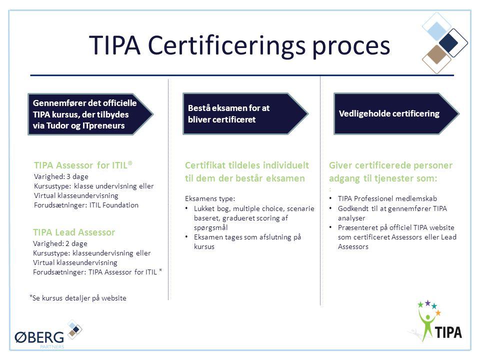 TIPA Certificerings proces