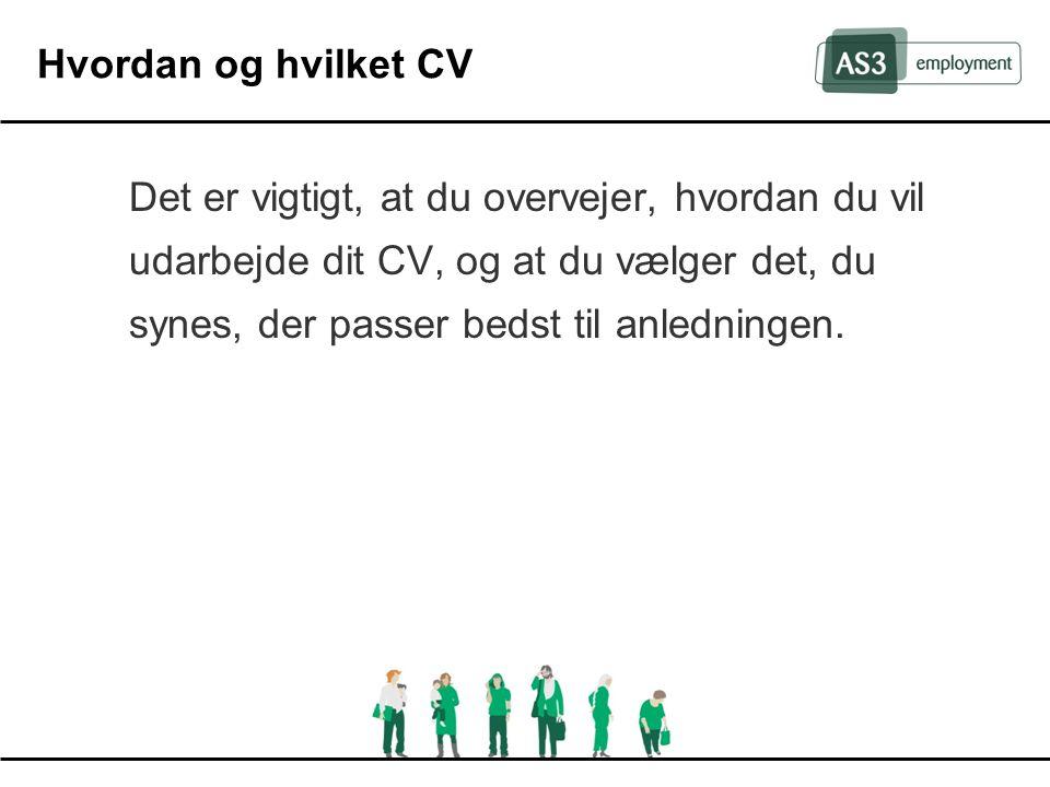 Hvordan og hvilket CV