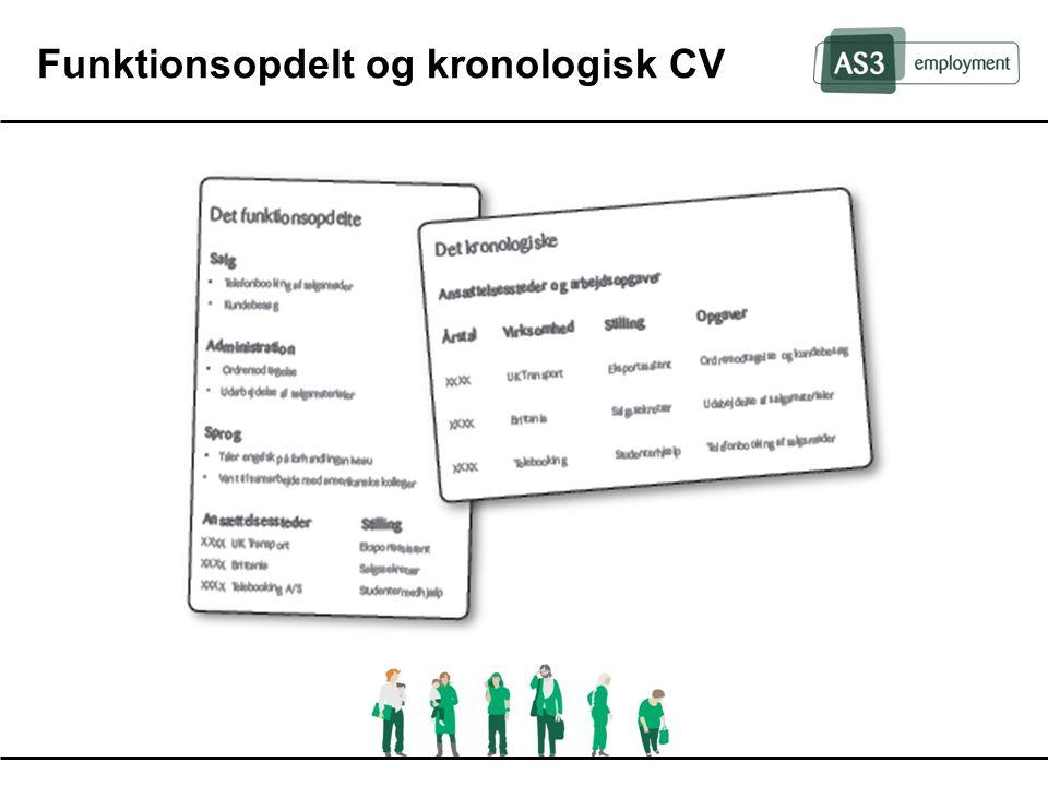 Funktionsopdelt og kronologisk CV