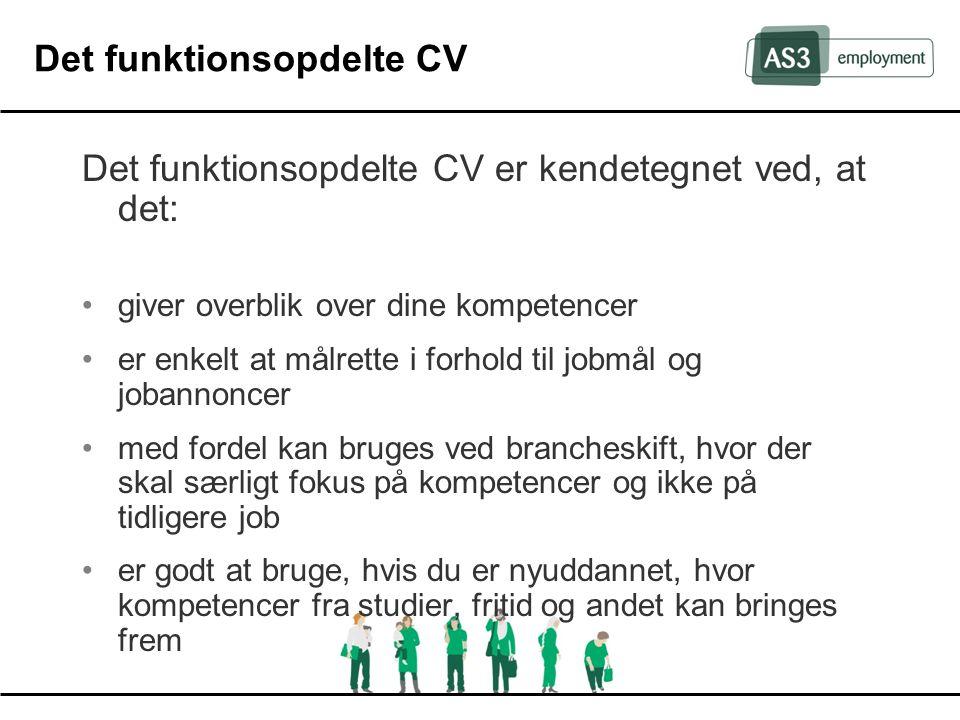 Det funktionsopdelte CV