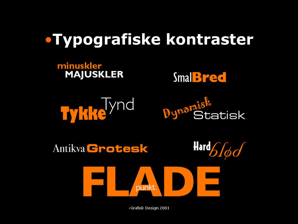 Typografiske kontraster