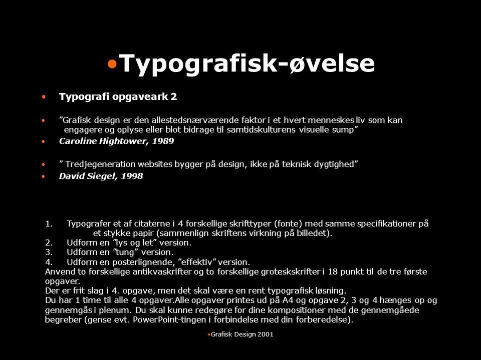 Typografisk-øvelse Typografi opgaveark 2
