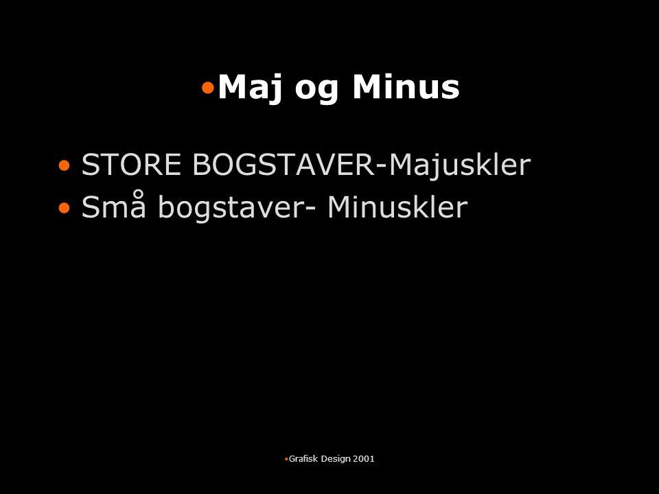 Maj og Minus STORE BOGSTAVER-Majuskler Små bogstaver- Minuskler
