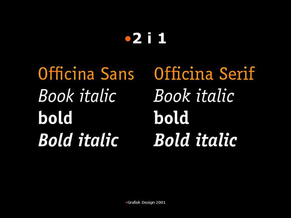 2 i 1 Grafisk Design 2001