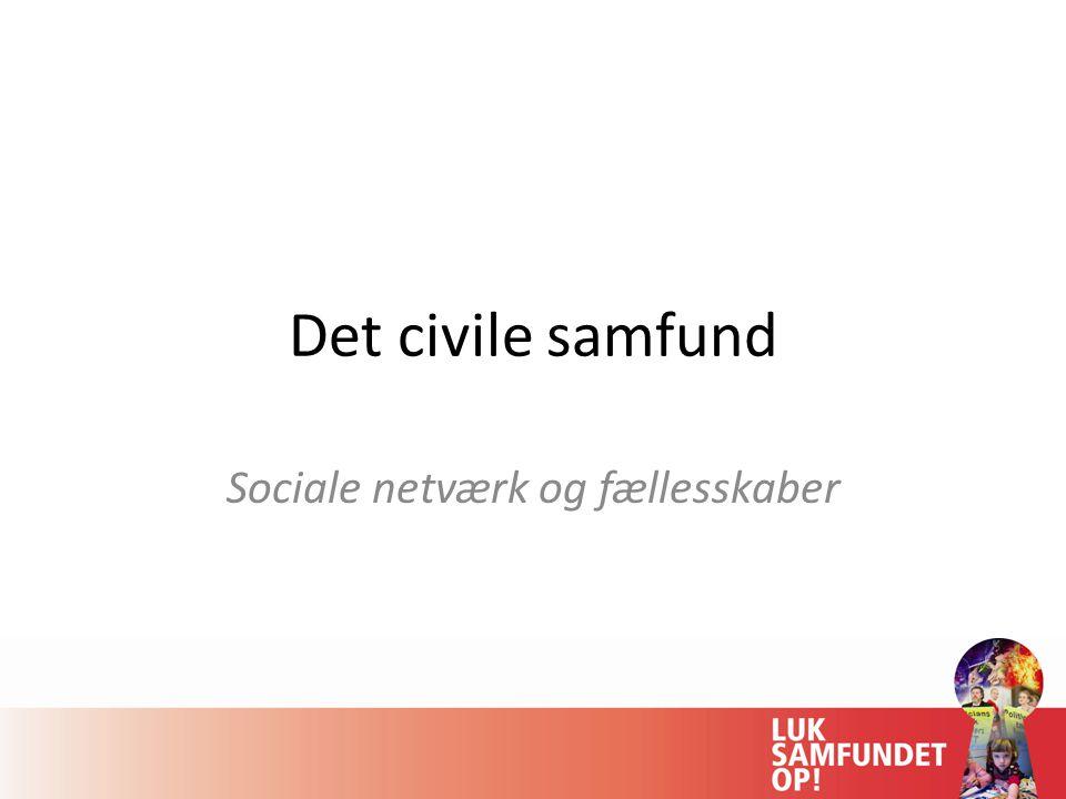 Sociale netværk og fællesskaber