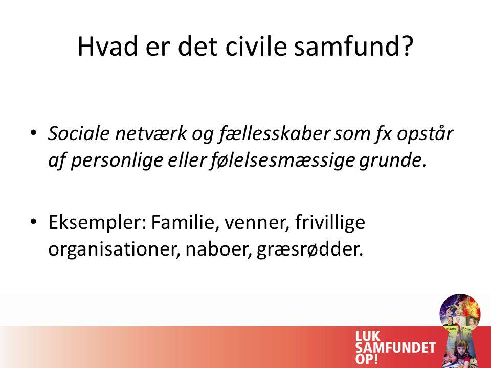 Hvad er det civile samfund