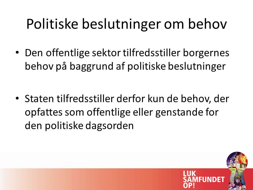 Politiske beslutninger om behov