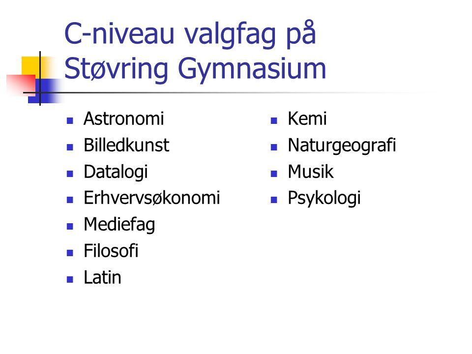 C-niveau valgfag på Støvring Gymnasium