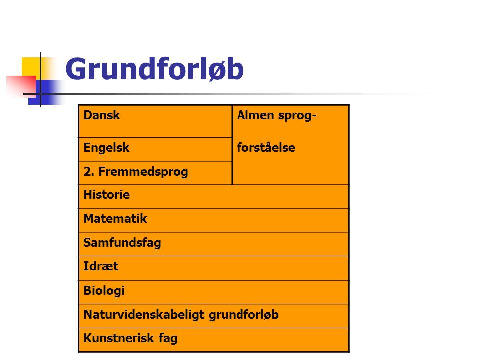 Grundforløb Dansk Almen sprog- Engelsk forståelse 2. Fremmedsprog