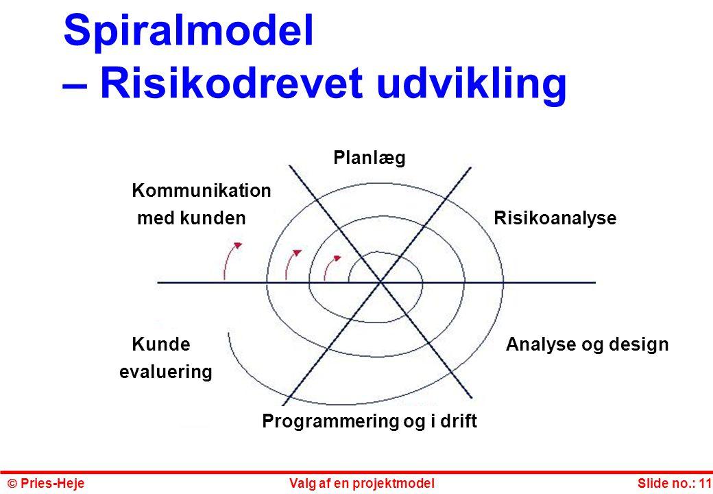 Spiralmodel – Risikodrevet udvikling