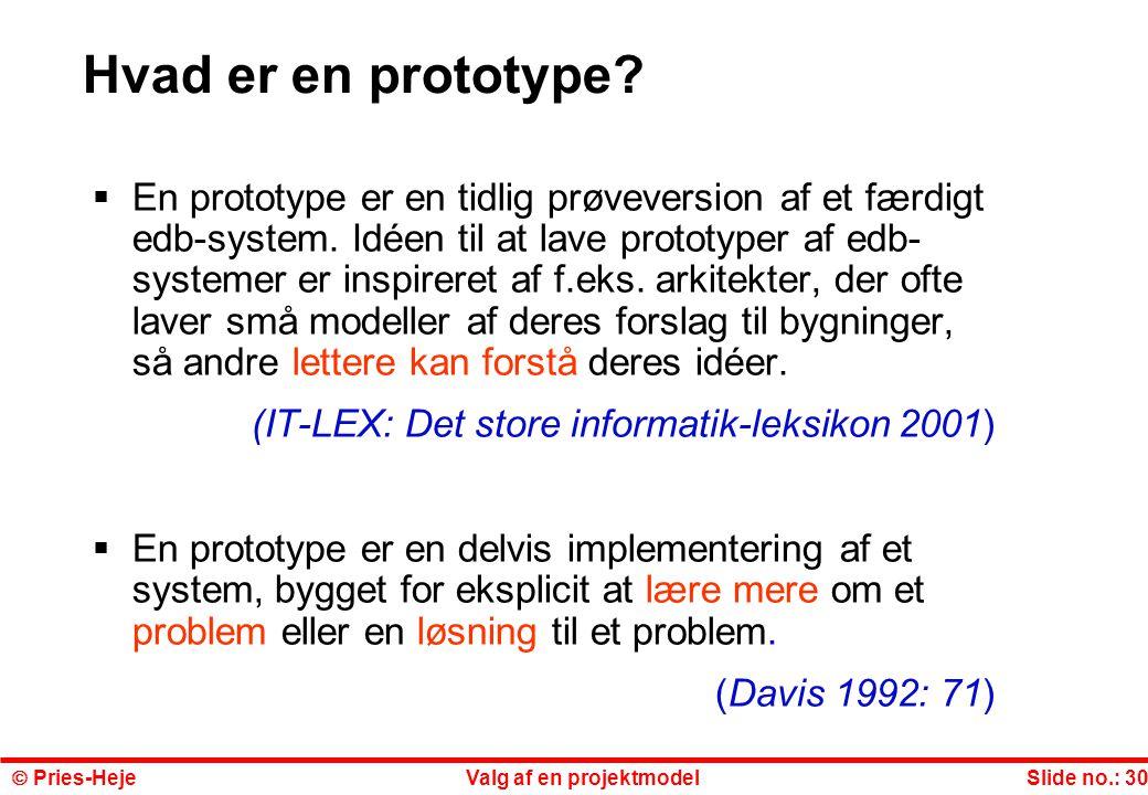 Hvad er en prototype