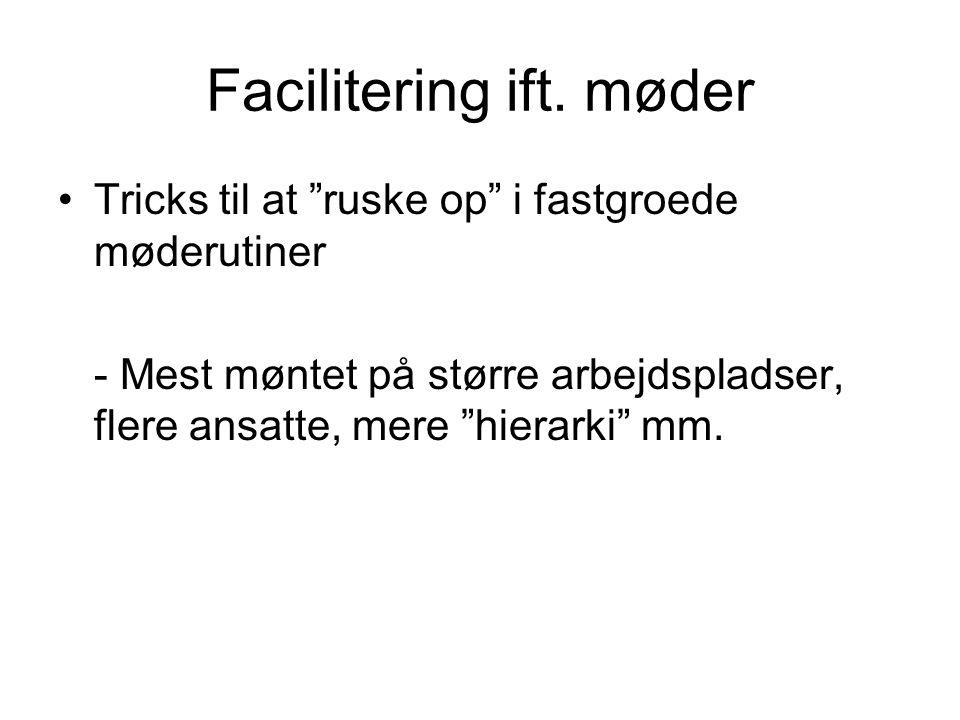 Facilitering ift. møder