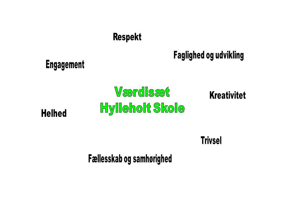 Værdisæt Hylleholt Skole Respekt Faglighed og udvikling Engagement