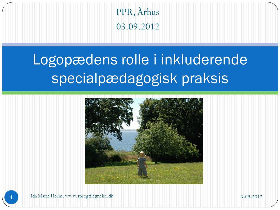 Logopædens rolle i inkluderende specialpædagogisk praksis