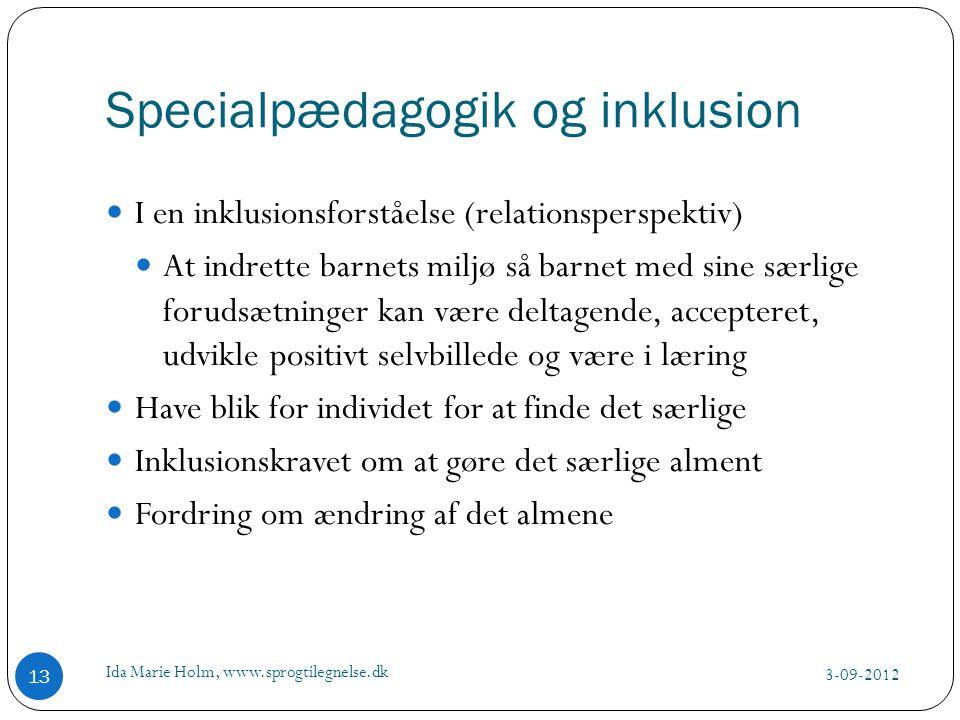 Specialpædagogik og inklusion