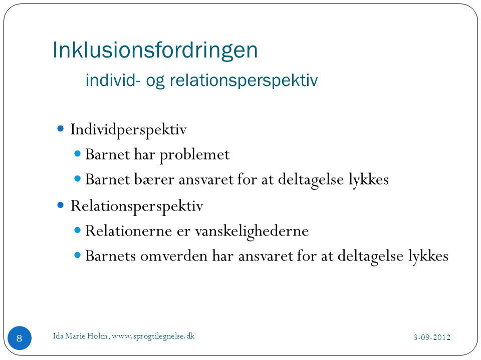 Inklusionsfordringen individ- og relationsperspektiv