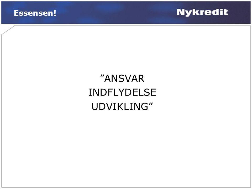 Essensen! ANSVAR INDFLYDELSE UDVIKLING