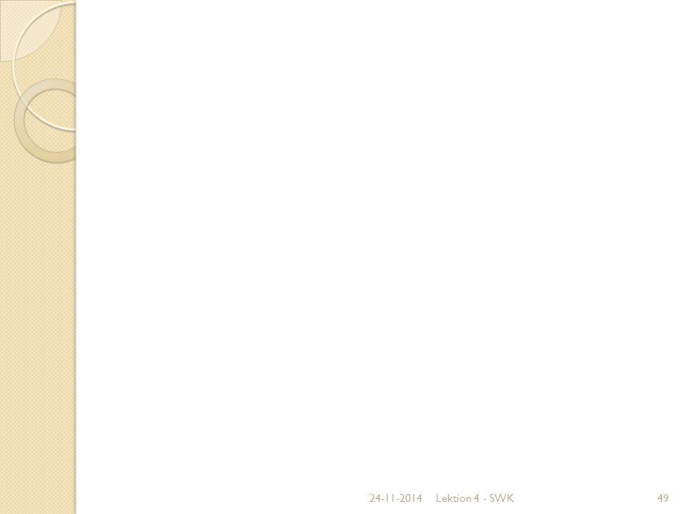 07-04-2017 Lektion 4 - SWK