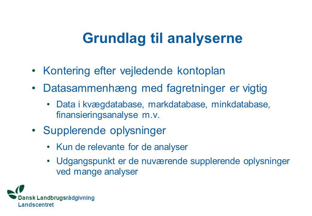 Grundlag til analyserne