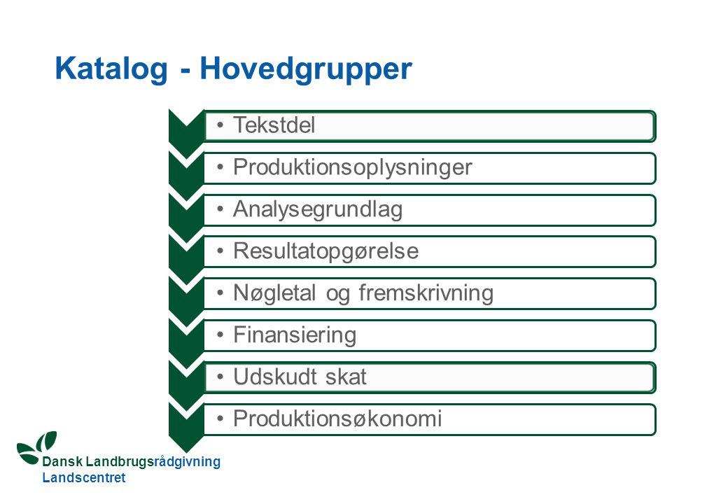 Katalog - Hovedgrupper