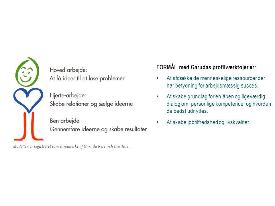 FORMÅL med Garudas profilværktøjer er: