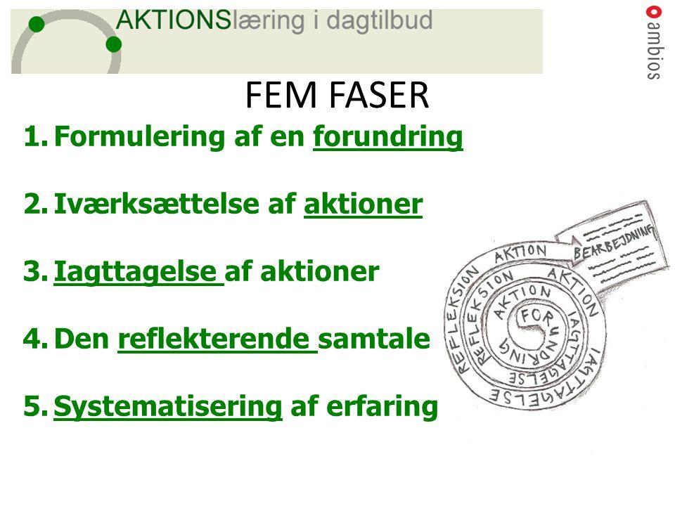 FEM FASER Formulering af en forundring Iværksættelse af aktioner