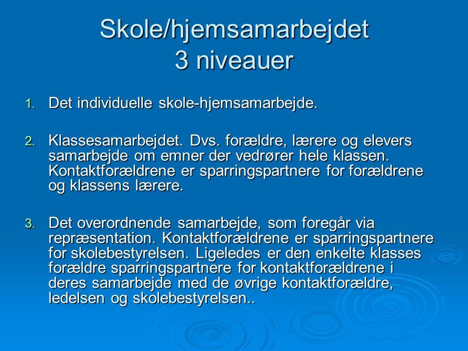 Skole/hjemsamarbejdet 3 niveauer