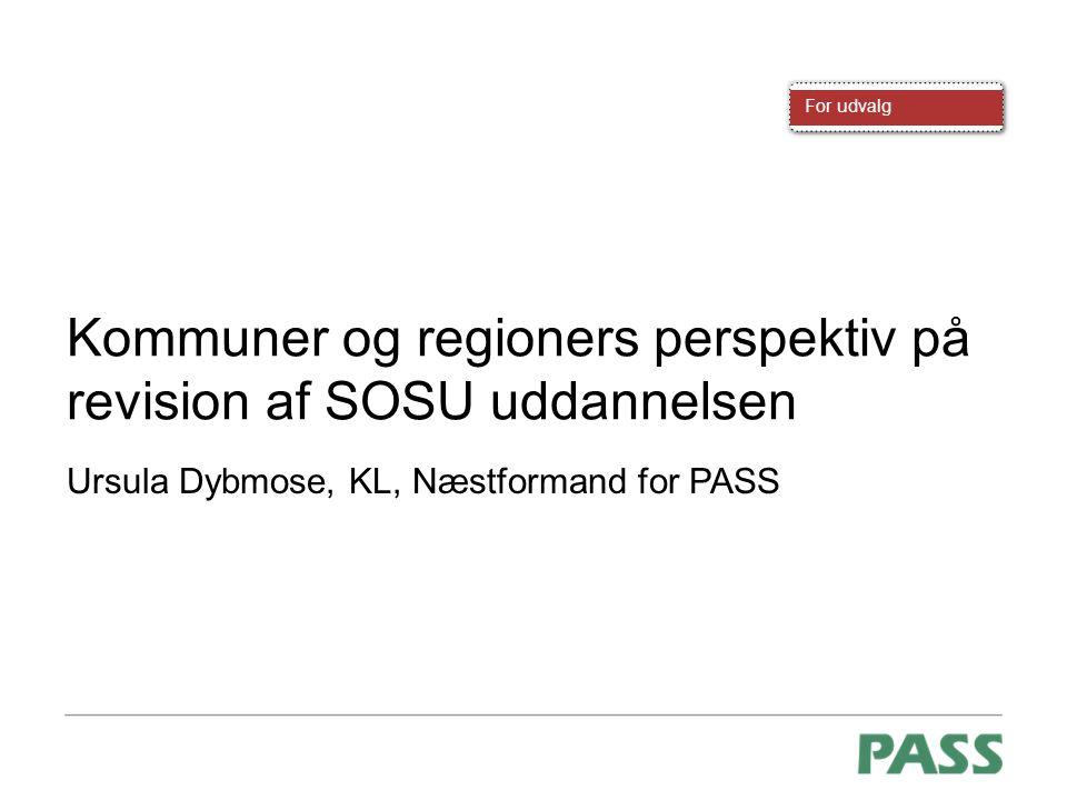 Kommuner og regioners perspektiv på revision af SOSU uddannelsen
