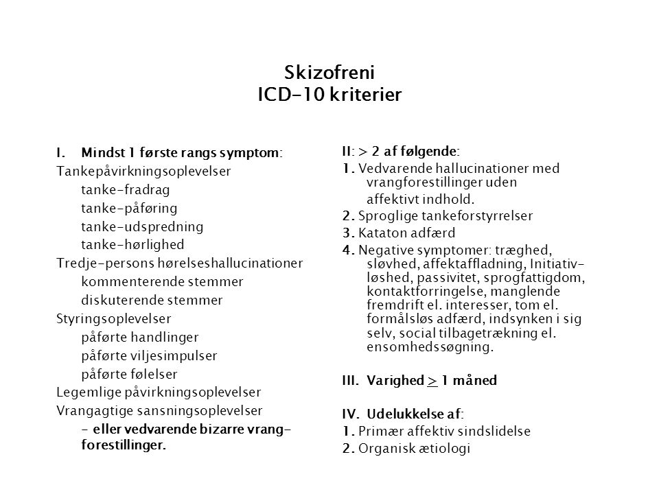 paranoid psykose icd 10