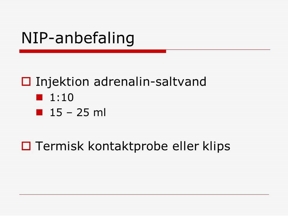 NIP-anbefaling Injektion adrenalin-saltvand