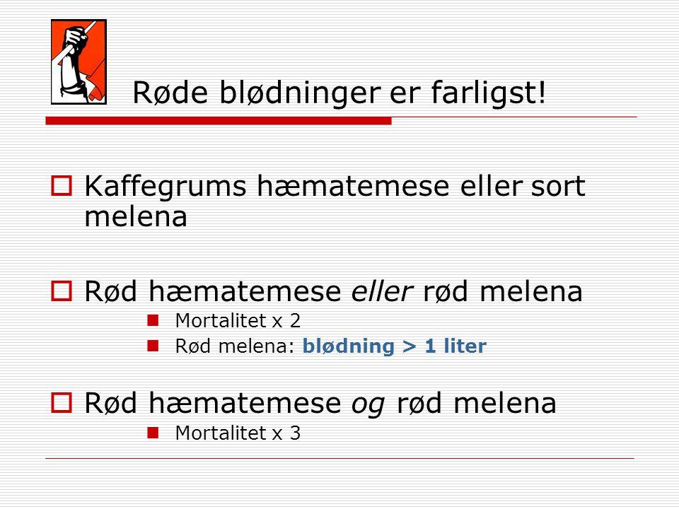Røde blødninger er farligst!